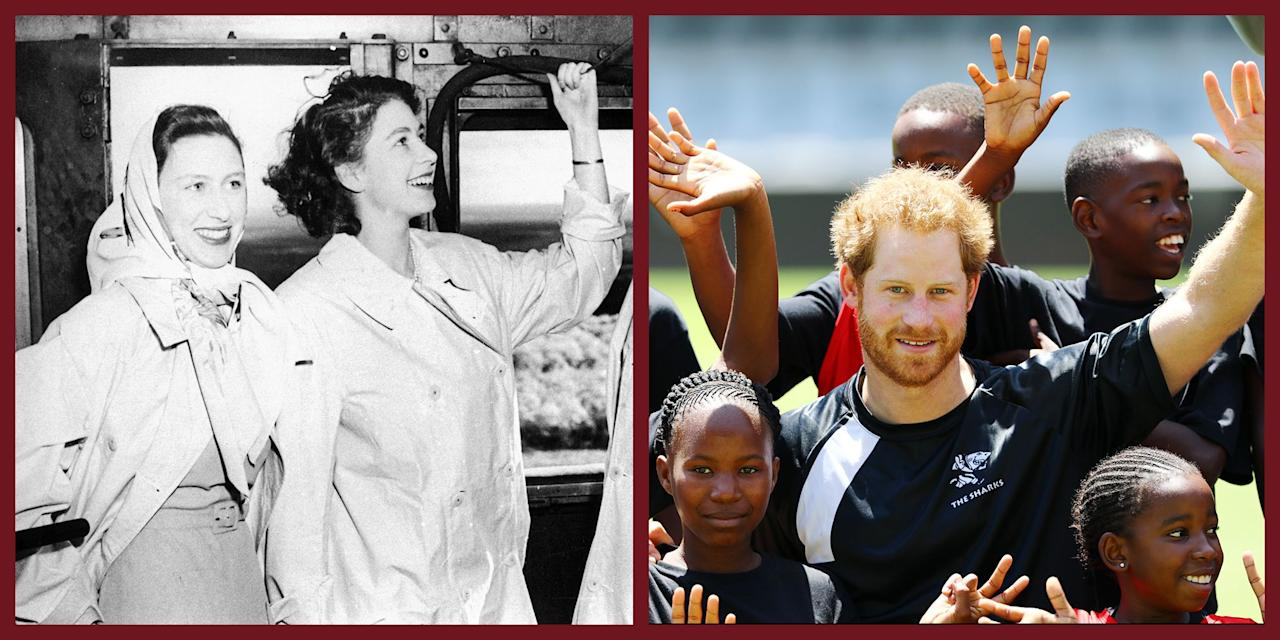 "<p>Prince Harry, Meghan, Duchess of Sussex, and baby Archie are preparing for <a href=""https://www.townandcountrymag.com/society/tradition/a27926553/meghan-markle-prince-harry-south-africa-malawi-angola-tour-details/"" target=""_blank"">their first African tour</a> as a family, which will begin on September 23 in Cape Town, South Africa. Of course, the royals have a long history of visiting the southernmost African country. Ahead of the Sussexes' trip, take a look back at previous royal tours, beginning in the 1940s. </p>"
