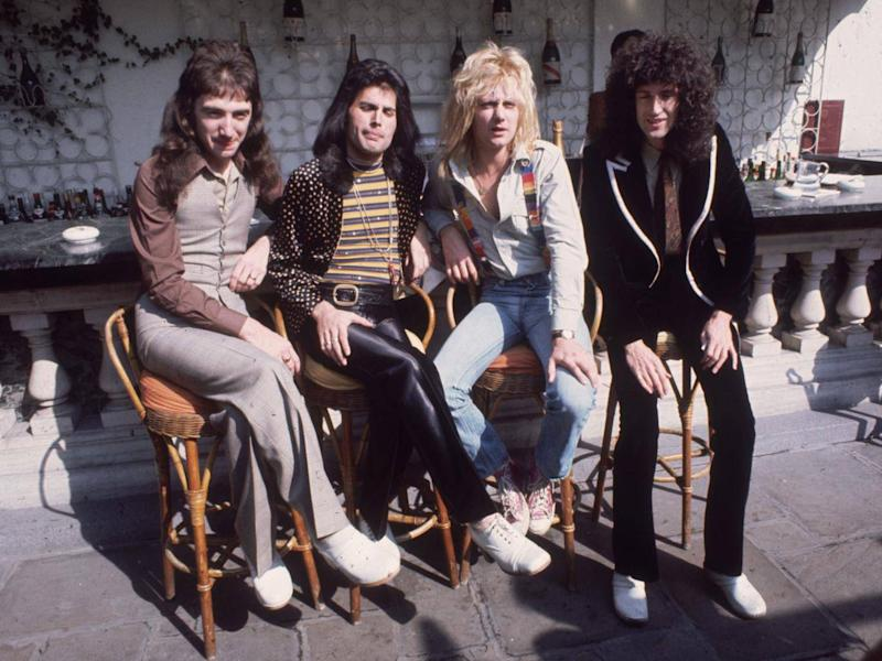 John Deacon, Freddie Mercury, Roger Taylor and Brian May (Getty)