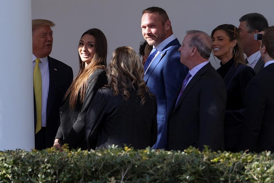 Bears great Brian Urlacher met with President Donald Trump in March 2020, which may have led to his brother Casey's pardon on illegal gambling charges. (REUTERS/Jonathan Ernst)