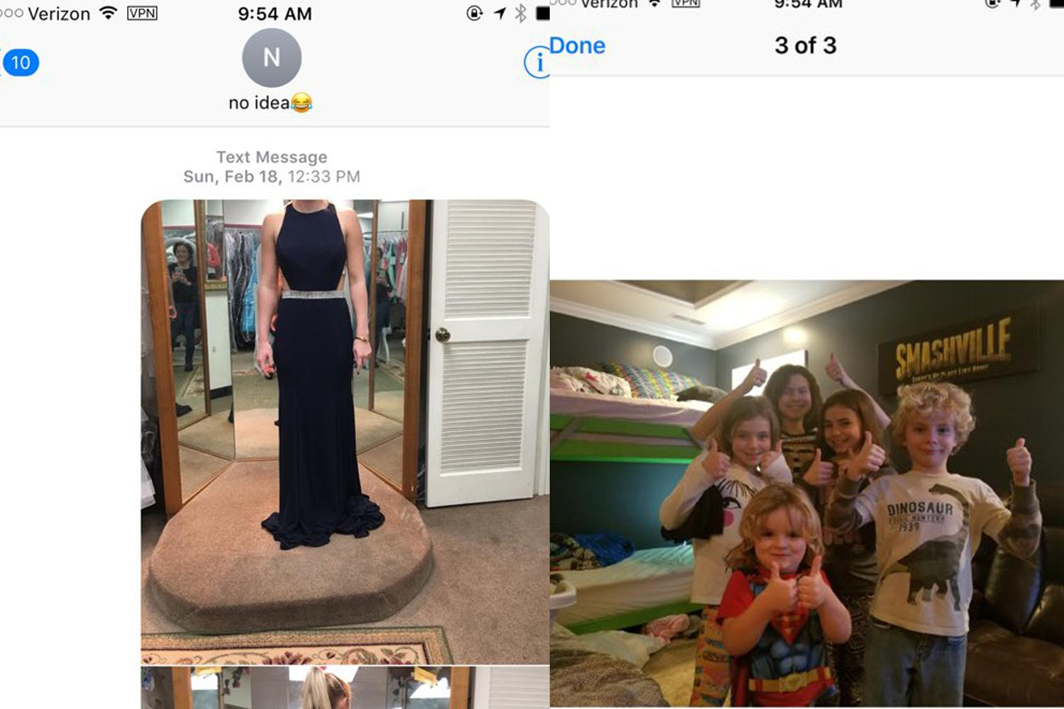 A young woman asking for an opinion on her dress texted the wrong number. A father of 6 received the text and responded to her. Here's how it's already changing the life of his little boy with leukemia