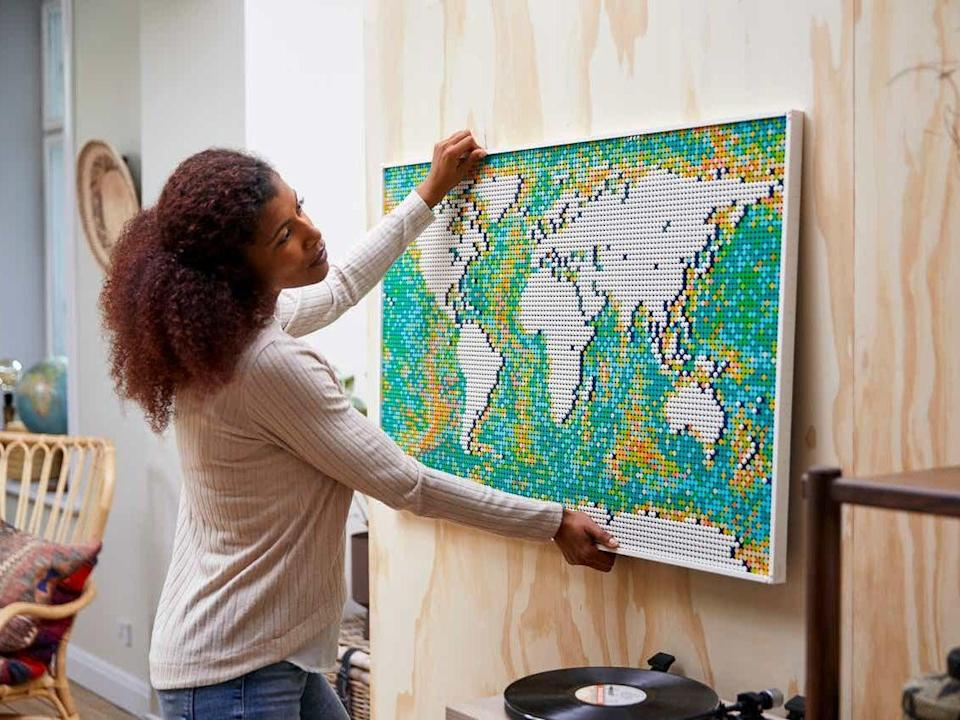 Lego's new Art World Map is inspired by bathymetric mapping of the ocean floor and will allow builders to rearrange it according to their personality (LEGO)