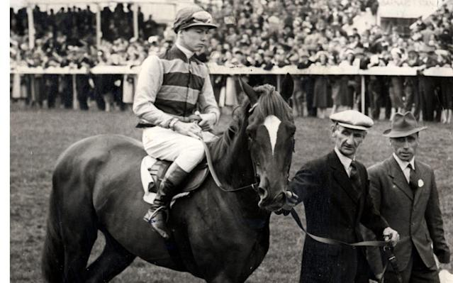 <span>Crepello ridden by Lester Piggott at the Derby 1957.</span> <span>Credit: Rex Features </span>