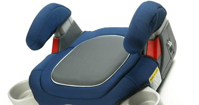 Graco children's booster seat, so older kids can comply with new government rules. the cupholders we