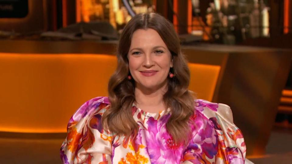 Actress Drew Barrymore tells Howard Stern about the challenges of growing up in the entertainment industry.  (Photo: Bravo / NBCU Photo Bank via Getty Image)