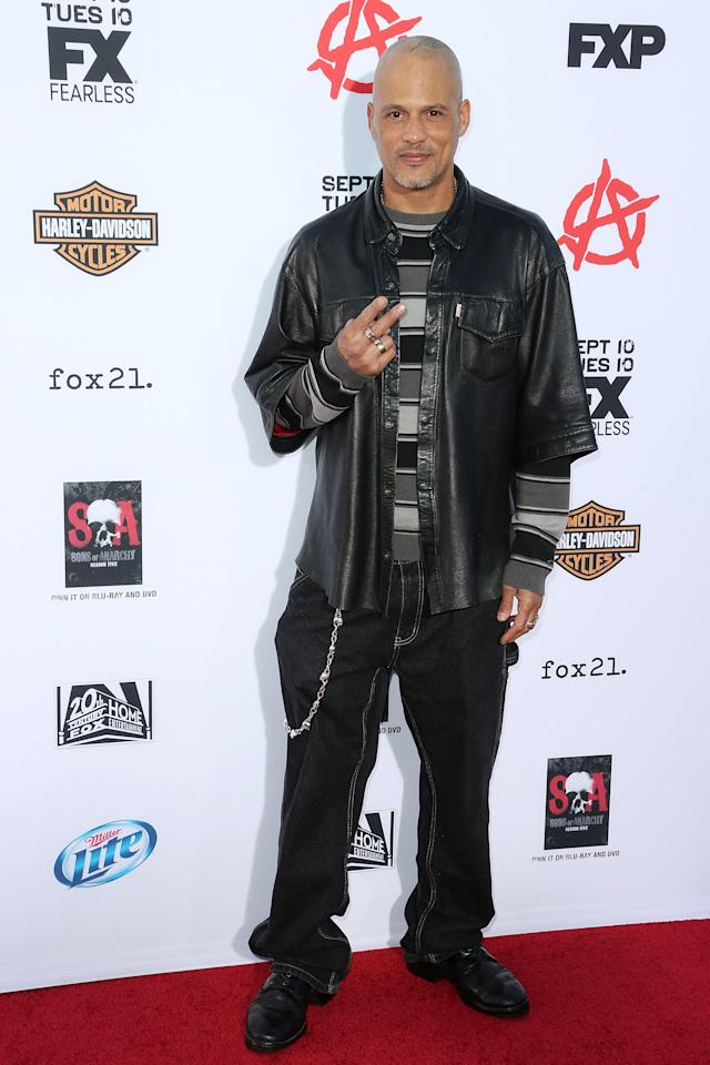 """HOLLYWOOD, CA - SEPTEMBER 07: Actor David Labrava attends the Premiere of FX's """"Sons of Anarchy"""" Season 6 at the Dolby Theatre on September 7, 2013 in Hollywood, California. (Photo by Frederick M. Brown/Getty Images)"""