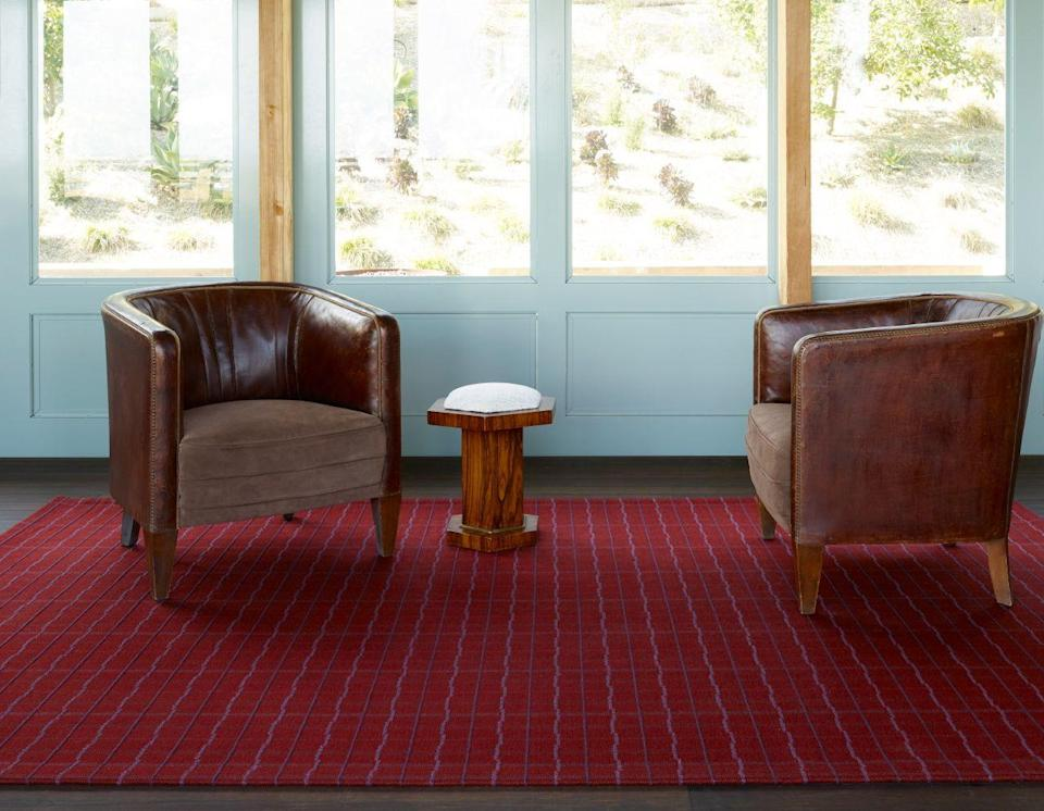 """<p><a href=""""https://www.meridastudio.com/"""" rel=""""nofollow noopener"""" target=""""_blank"""" data-ylk=""""slk:Merida"""" class=""""link rapid-noclick-resp"""">Merida</a>, an all-natural rug company that graces the offices of Tory Burch, Ralph Lauren, Goop, and many other high-profile names, has just launched its latest collection, <a href=""""https://www.meridastudio.com/pages/portfolio-collection"""" rel=""""nofollow noopener"""" target=""""_blank"""" data-ylk=""""slk:Portfolio,"""" class=""""link rapid-noclick-resp"""">Portfolio,</a> inspired by the Italian Renaissance, Ottoman Empire, and Artistic Director Sylvie Johnson's love for the region.</p><p>Johnson, who is currently based in Paris, is a self-taught weaver with masterworks that can be found in <a href=""""https://www.royalmansour.com/en/"""" rel=""""nofollow noopener"""" target=""""_blank"""" data-ylk=""""slk:King Mohammed VI's Ozymandian Hotel"""" class=""""link rapid-noclick-resp"""">King Mohammed VI's Ozymandian Hotel</a> in Morocco. She has spent the last week of January in Florence (one of her favorite cities in the world) for the last 13 years, which helped inspire the Portfolio collection. This latest line was influenced by many of the colors in Renaissance artwork, details in Italian architecture (like the <a href=""""https://www.uffizi.it/en/pitti-palace"""" rel=""""nofollow noopener"""" target=""""_blank"""" data-ylk=""""slk:Pitti Palace"""" class=""""link rapid-noclick-resp"""">Pitti Palace</a>), and the everyday details of Mediterranean design.</p><p>This collection was made with rapidly replenishable materials like crimped wools, Belgian linen, and South African mohair and woven with a hand-stitched look that offers a bespoke, tailored aesthetic. You'll find an inside look into the inspiration behind this beautiful collection below.</p>"""
