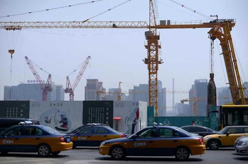 A construction site in Beijing, pictured on May 30, 2014 (AFP Photo/Wang Zhao)