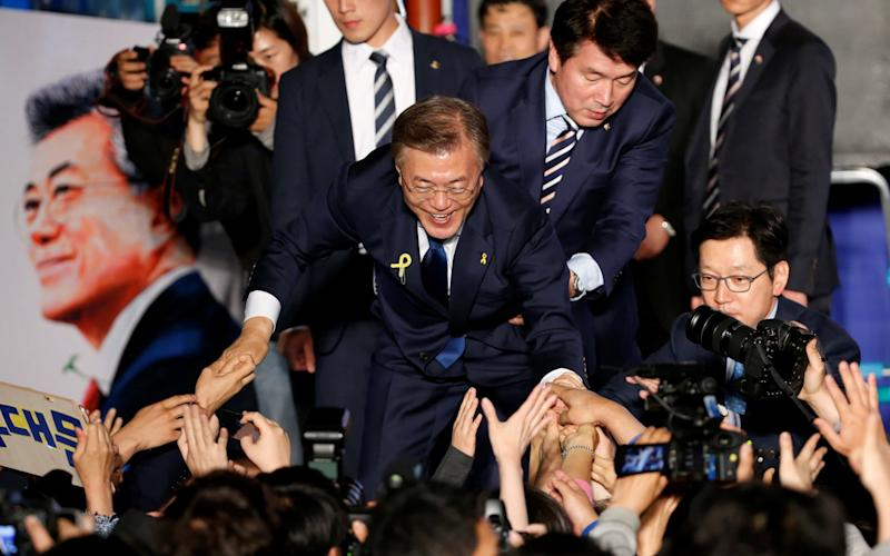 South Korea's president Moon Jae-in - REUTERS
