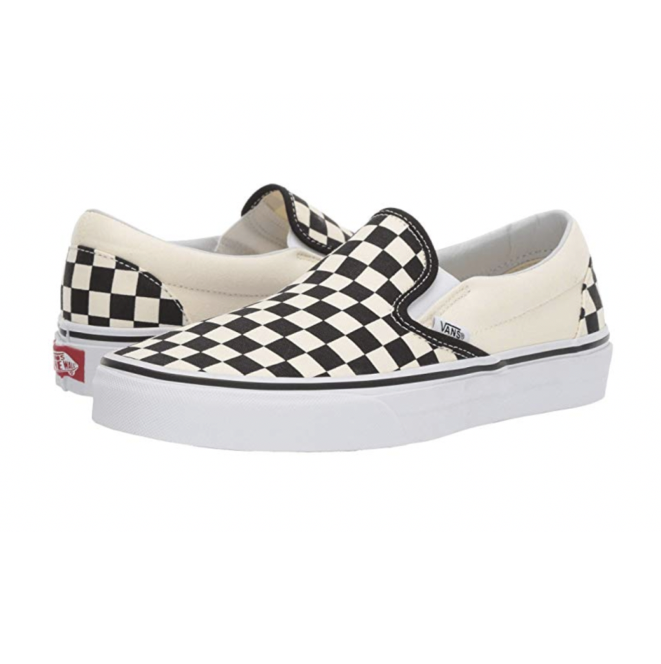 """<p><strong>Vans</strong></p><p>zappos.com</p><p><strong>$49.95</strong></p><p><a href=""""https://go.redirectingat.com?id=74968X1596630&url=https%3A%2F%2Fwww.zappos.com%2Fp%2Fvans-classic-slip-on-core-classics-black-canvas%2Fproduct%2F7226411&sref=https%3A%2F%2Fwww.seventeen.com%2Ffashion%2Ftrends%2Fg29036093%2Fvsco-girl-brands-starter-pack%2F"""" rel=""""nofollow noopener"""" target=""""_blank"""" data-ylk=""""slk:Shop Now"""" class=""""link rapid-noclick-resp"""">Shop Now</a></p><p>You can't exactly wear your Crocs in the winter. Classic checked Vans will be your go-to sneaker for every single season.</p>"""