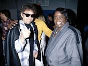<p>Bob Dylan and James Brown in New York City, 1990.</p>
