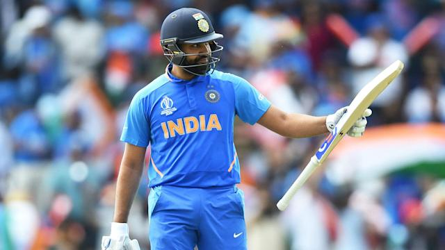 The prolific Rohit Sharma smashed six sixes and fell just 15 runs short of a century in his 100th Twenty20 International.