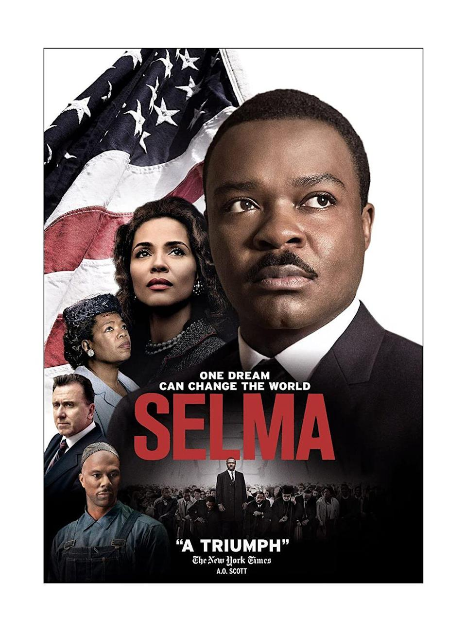 """<p><a class=""""link rapid-noclick-resp"""" href=""""https://www.amazon.com/Selma-David-Oyelowo/dp/B00S0X4HK8?tag=syn-yahoo-20&ascsubtag=%5Bartid%7C10070.g.34963316%5Bsrc%7Cyahoo-us"""" rel=""""nofollow noopener"""" target=""""_blank"""" data-ylk=""""slk:STREAM NOW"""">STREAM NOW</a></p><p>This historical drama is based on the 1965 voting rights marches from Selma to Montgomery, which were organized by civil rights movement leader James Bevel and led by civil rights activists Martin Luther King Jr., Hosea Williams, and John Lewis. </p>"""