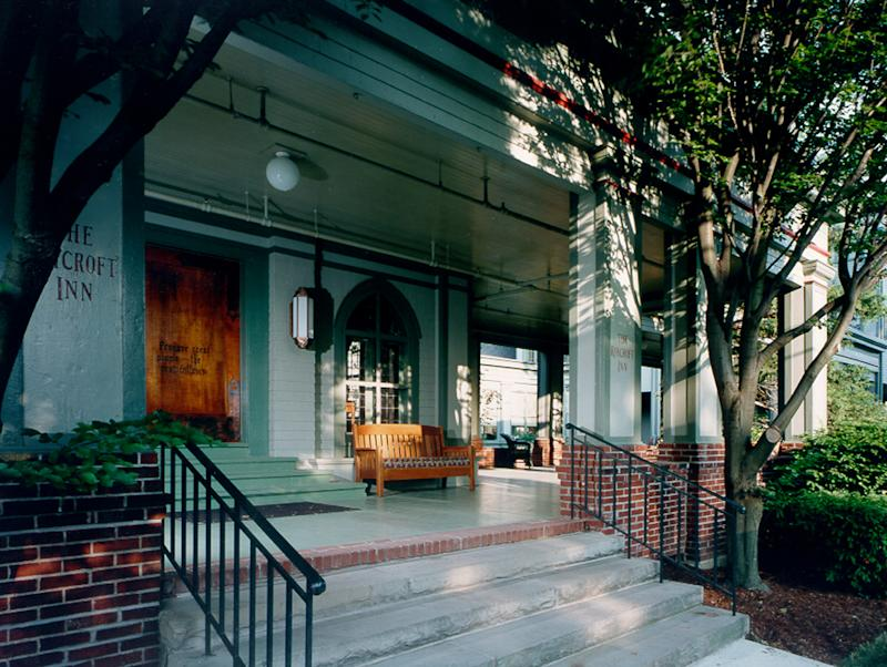 This 1995 photo provided by The Roycroft Inn in East Aurora, New York, is shown the year it reopened after a restoration. The Roycroft Inn & Campus, an extraordinary complex of buildings where the Arts & Crafts Movement thrived at the turn of the 20th century, was saved after appearing in 1989 on the National Trust for Historic Preservation's annual list of America's 11 Most Endangered Historic Places.  (AP Photo/The Roycroft Inn, Rob Karosis)