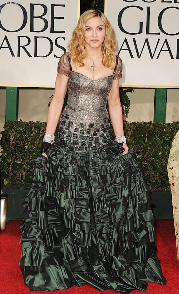 Madonna arrives at the 69th Annual Golden Globe Awards in Beverly Hills, California, on January 15.