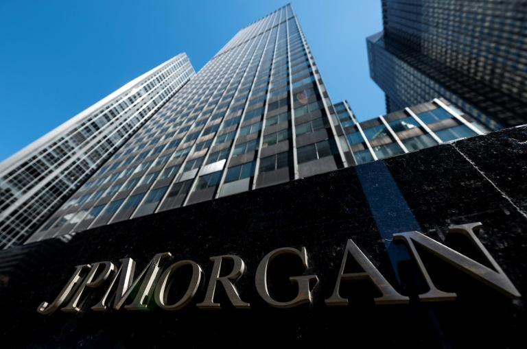 JPMorgan Chase was among the large banks to signal that lower interest rates will dent profits in 2019 (AFP Photo/Johannes EISELE)