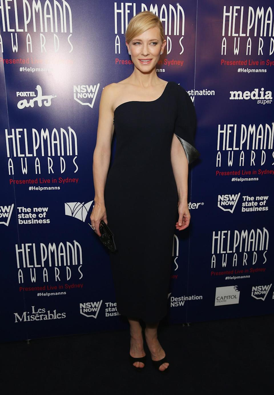 <p>The Academy Award-winning actress arrived to the 2015 Helpmann Awards in Sydney, Australia wearing a sophisticated gown from the Australian fashion brand.<br><br></p>
