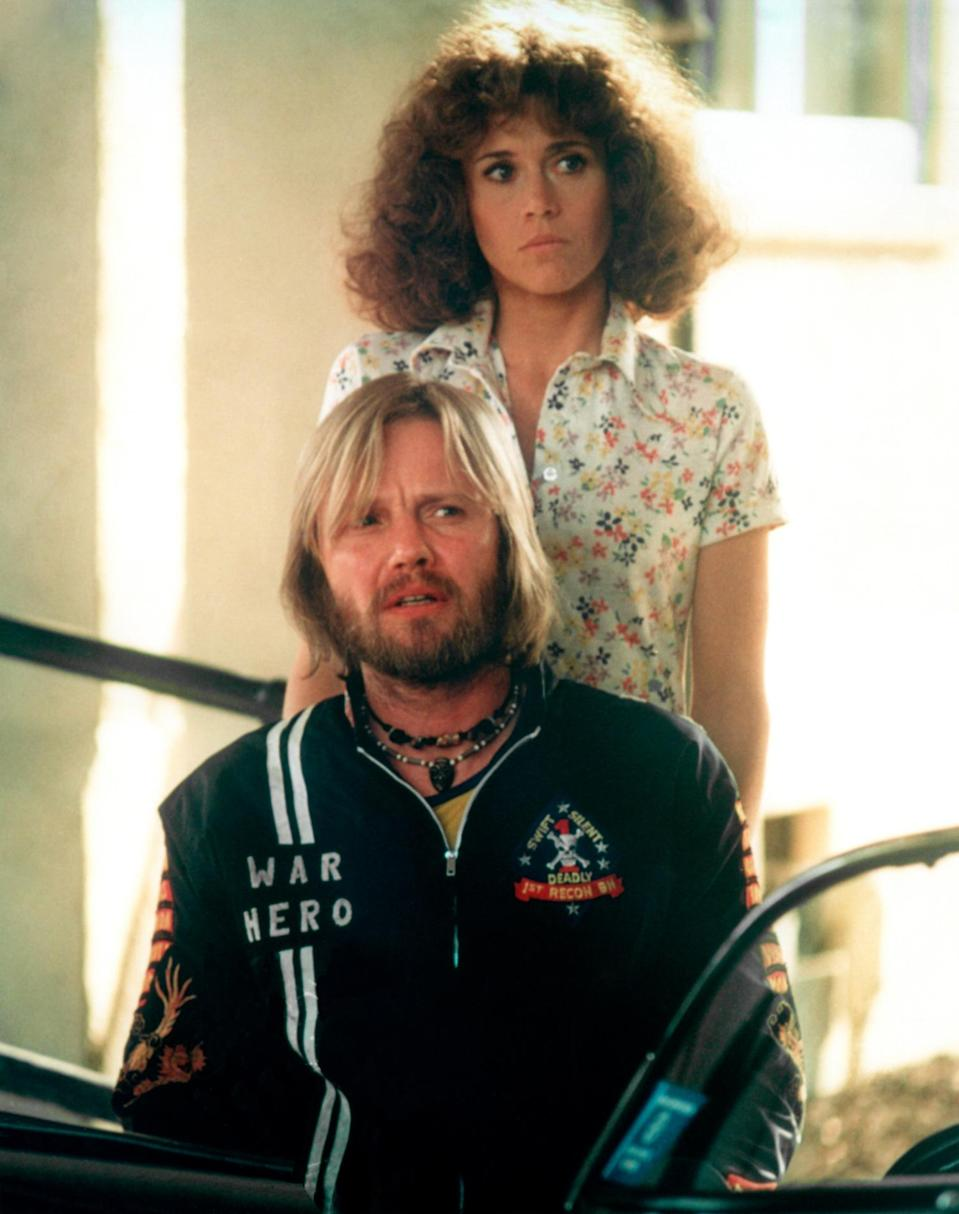 <p>Fonda sported short curly hair to play Sally Hyde alongside a young Jon Voight in 1978's <em>Coming Home</em>. The role earned her a second Oscar win; she's been nominated seven times.</p>