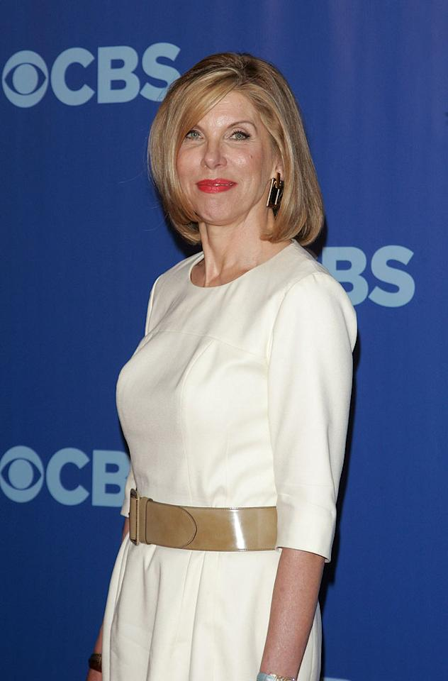 "<a href=""/christine-baranski/contributor/31265"">Christine Baranski</a> (""<a href=""/the-good-wife/show/44803"">The Good Wife</a>"") attends the 2010 CBS Upfront at The Tent at Lincoln Center on May 19, 2010 in New York City."