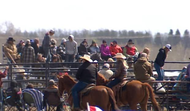 Hundreds attended a rodeo near Bowden, Alta., over the weekend in defiance of public health restrictions, despite surging COVID-19 cases.