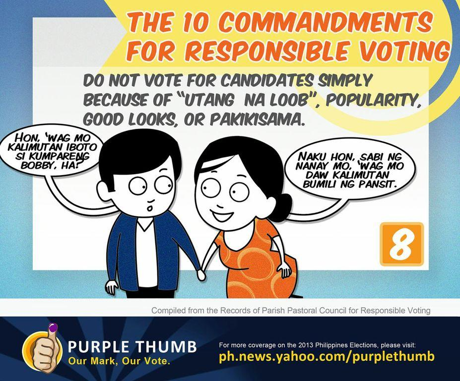 PPCRV's guide to voting. Illustration by CJ Brosas/Yahoo! Southeast Asia
