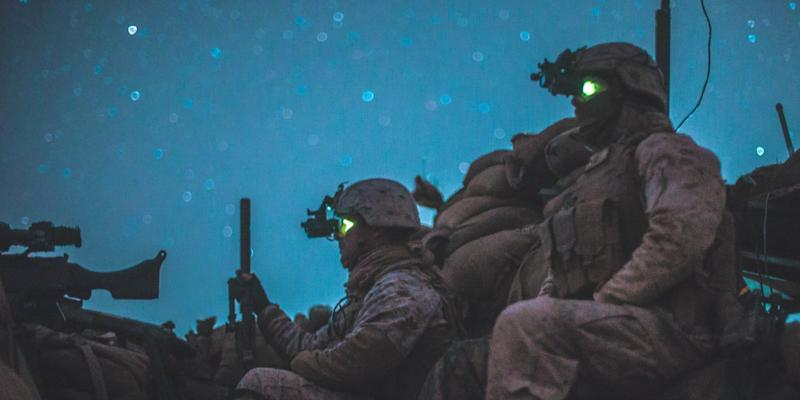 US Marines Afghanistan Night