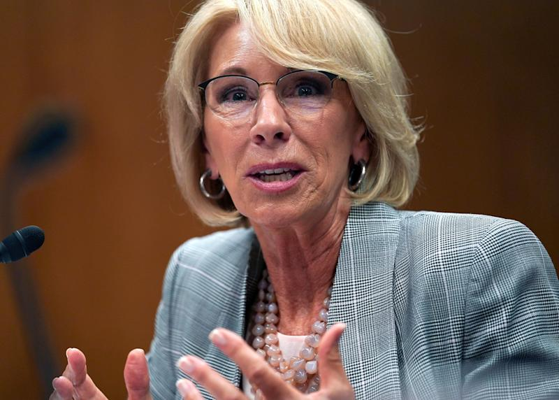 """Education Secretary Betsy DeVos """"took immediate action"""" after the damage was reported, her spokesperson said. (Photo: ASSOCIATED PRESS)"""