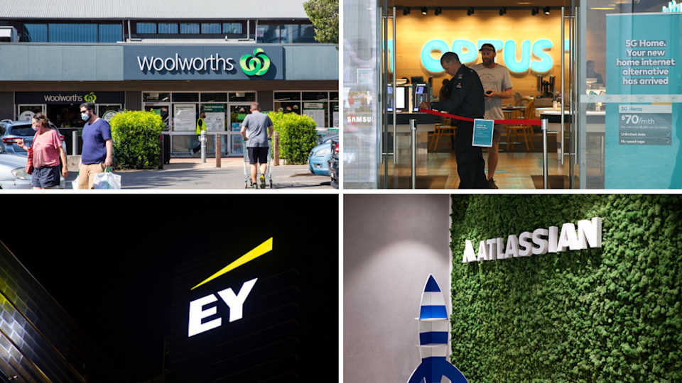 EY, Optus, Woolworths and Atlassian have been named by LinkedIn as some of Australia's top employers for 2021. (Source: Getty)