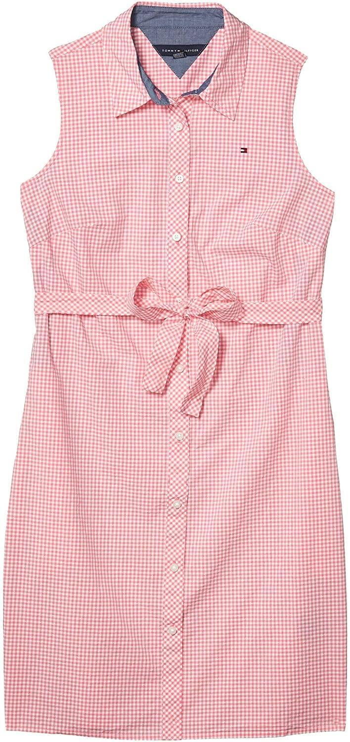 <p>Style this <span>Tommy Hilfiger Sleeveless Shirt Dress</span> ($67) with sneakers for a sporty chic look.</p>
