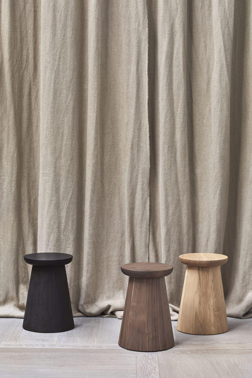 """<p>Made using traditional carpentry techniques, London-based designer Edward Collinson's handcrafted stools come in an ebonised oak, walnut or natural oak finish. Gently curved undersides add to their tactile appeal, while flat tops mean they can double up as side tables. £710 each, <a href=""""https://www.edwardcollinson.co.uk"""" rel=""""nofollow noopener"""" target=""""_blank"""" data-ylk=""""slk:edwardcollinson.co.uk"""" class=""""link rapid-noclick-resp"""">edwardcollinson.co.uk</a></p>"""