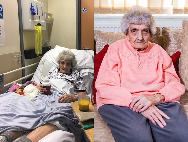 Mrs Stevens worked in the nursing profession for 41 years (Picture: SWNS)