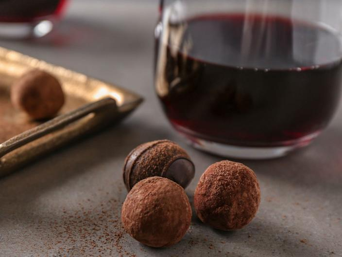 On the Sirtfood Diet, you're allowed to drink red wine and eat dark chocolate.