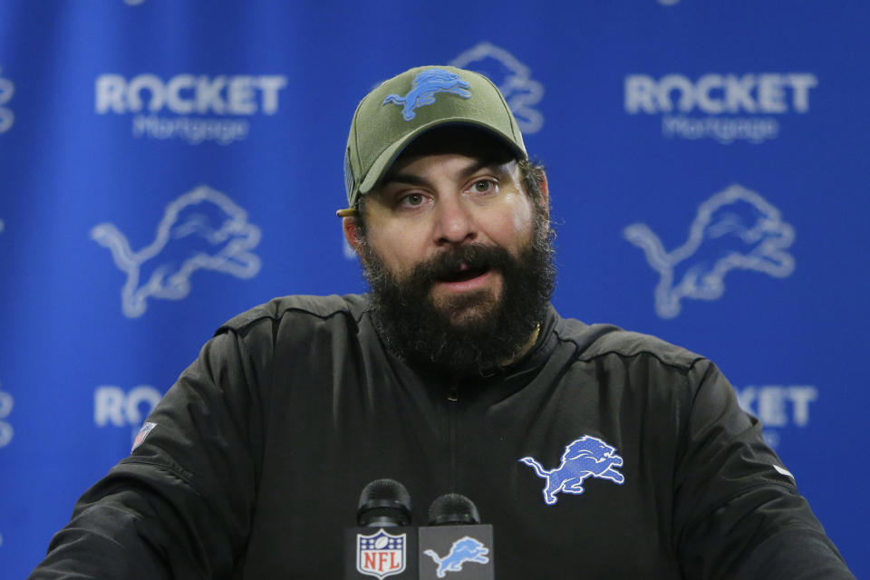 Detroit Lions head coach Matt Patricia, along with general manager Bob Quinn, have finally been fired by the franchise. (Duane Burleson/AP File)