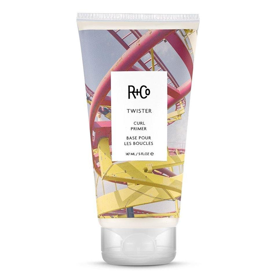 "<h3>R+Co Twister Curl Primer</h3> <br><br>""Every head of hair grabs product differently,"" says Garren, also the co-founder of trendy hair-care brand R+Co. ""A little bit of this lotion gives a gorgeous shine and smoothness for someone with curly or natural hair because it closes the cuticle down to soften the curl. You don't need a lot — just mix a little in your hand and work it through wet hair.""<br><br><strong>R+Co</strong> R+Co Twister Curl Primer, 5 Fl Oz, $, available at <a href=""https://www.amazon.com/Co-Twister-Curl-Primer-Fl/dp/B01D3LDJQE/ref=asc_df_B01D3LDJQE/?tag=hyprod-20&linkCode=df0&hvadid=312031418847&hvpos=1o4&hvnetw=g&hvrand=9742376829140546783&hvpone=&hvptwo=&hvqmt=&hvdev=c&hvdvcmdl=&hvlocint=&hvlocphy=9004970&hvtargid=pla-436200486673&psc=1"" rel=""nofollow noopener"" target=""_blank"" data-ylk=""slk:Amazon"" class=""link rapid-noclick-resp"">Amazon</a><br><br>"