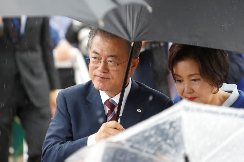 South Korea's Moon to visit China for trilateral with Japan amid North Korea tension