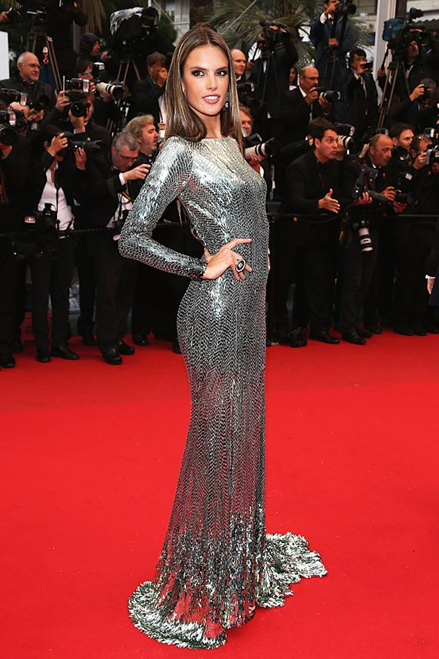 CANNES, FRANCE - MAY 22:  Alessandra Ambrosio attends the 'All Is Lost' Premiere during the 66th Annual Cannes Film Festival at Palais des Festivals on May 22, 2013 in Cannes, France.  (Photo by Andreas Rentz/Getty Images)