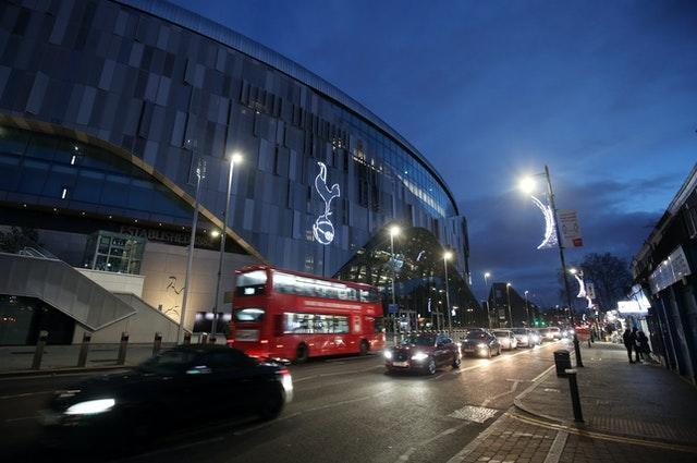 A general view of the Tottenham Hotspur Stadium on Wednesday