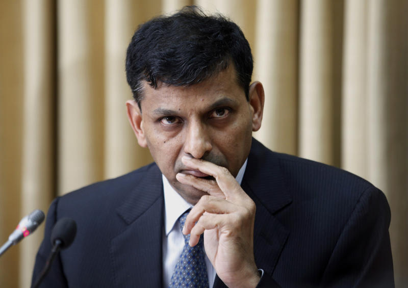 Newly appointed Reserve Bank of India (RBI) Governor Raghuram Rajan attends a press conference at the RBI headquarters in Mumbai, India, Wednesday, Sept. 4, 2013. (AP Photo/Rajanish Kakade)