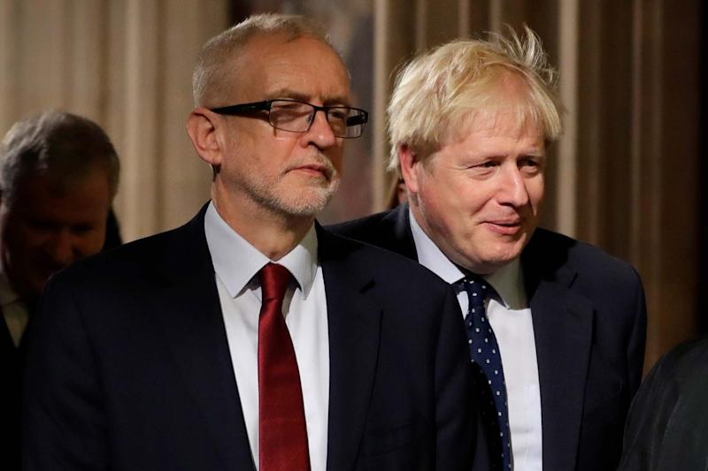 Labour leader Jeremy Corbyn has hit back and Prime Minister Boris Johnson's call to 'man up' and back a snap election: AP
