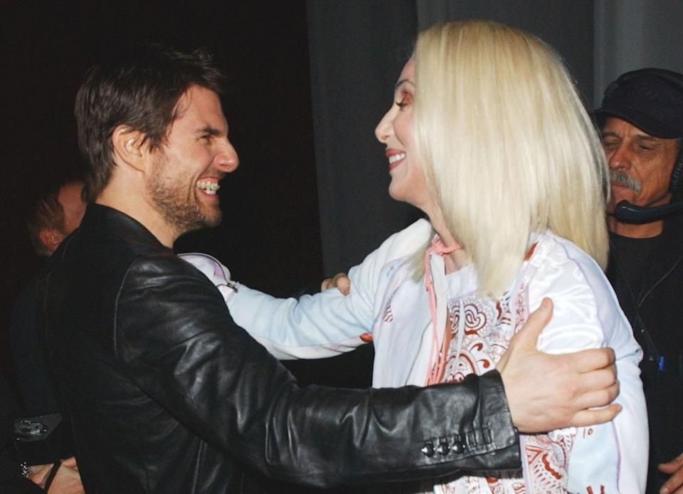 Tom Cruise y Cher. (Foto: MCaulfield / Getty Images)