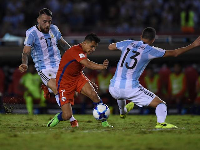 Sanchez was unable to drag Chile back into the game (AFP/Getty )