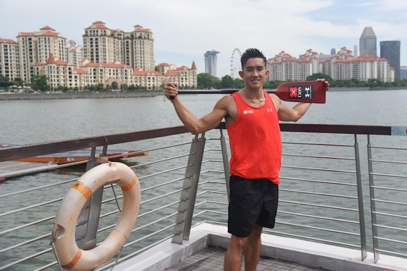 Kenneth Lee, captain of DBS Asia Dragons dragonboat team (PHOTO: Iman Hashim/Yahoo News Singapore)