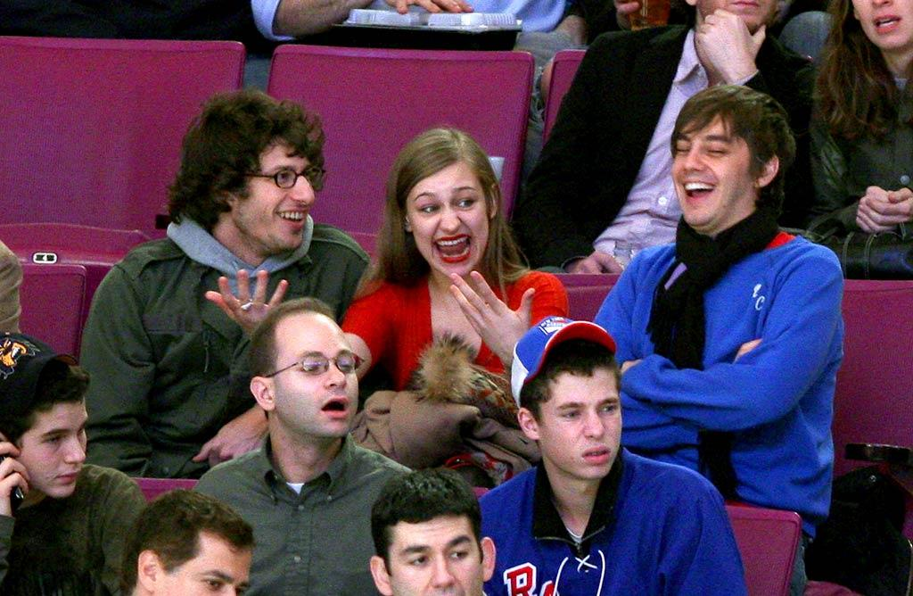 """The Emmy-winning comic and his friends crack themselves up. James Devaney/<a href=""""http://www.wireimage.com"""" target=""""new"""">WireImage.com</a> - November 29, 2007"""