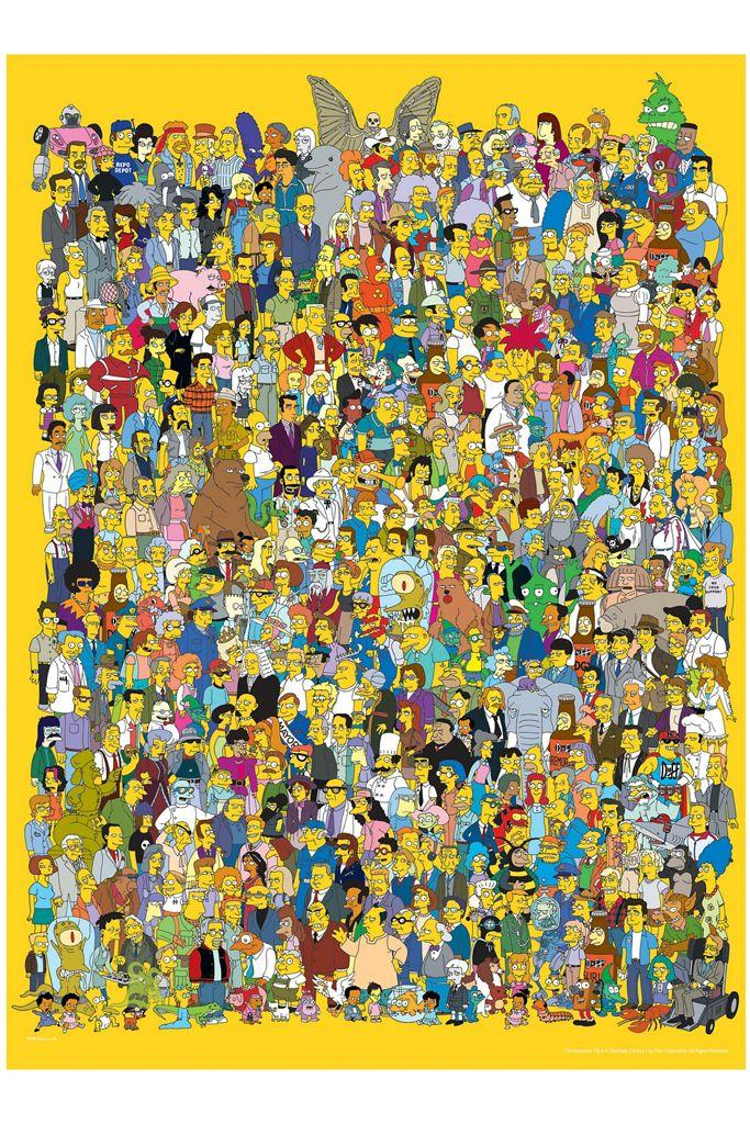 The Simpsons Cast 1000 Piece Puzzle. Image via Urban Outfitters.