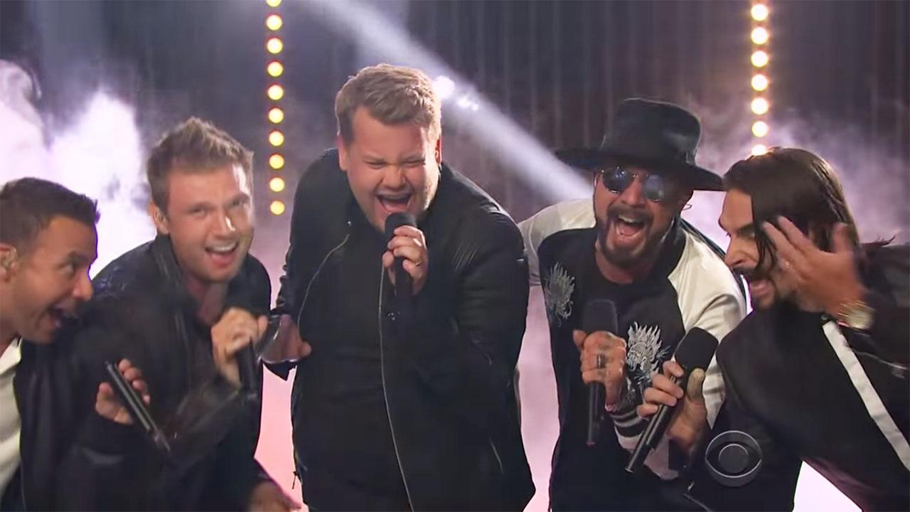 The 'Late Late Show' took the stage at the group's Planet Hollywood residency on Friday night.