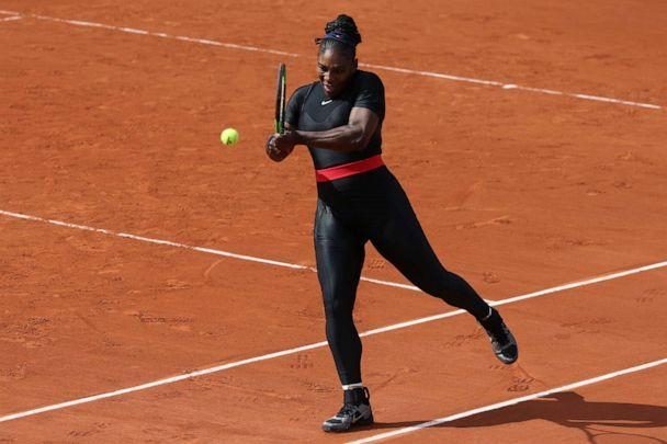 PHOTO: Serena Williams hits the ball during the 2018 French Open at Roland Garros stadium on June 3, 2018, in Paris. (Jean Catuffe/Getty Images, FILE)