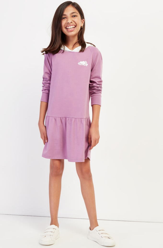 Girls Remix Hoody Dress. Image via Roots.