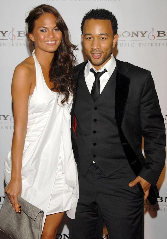 Chrissy Teigen and John Legend in February 2008. (Photo: Mark Sullivan/WireImage)