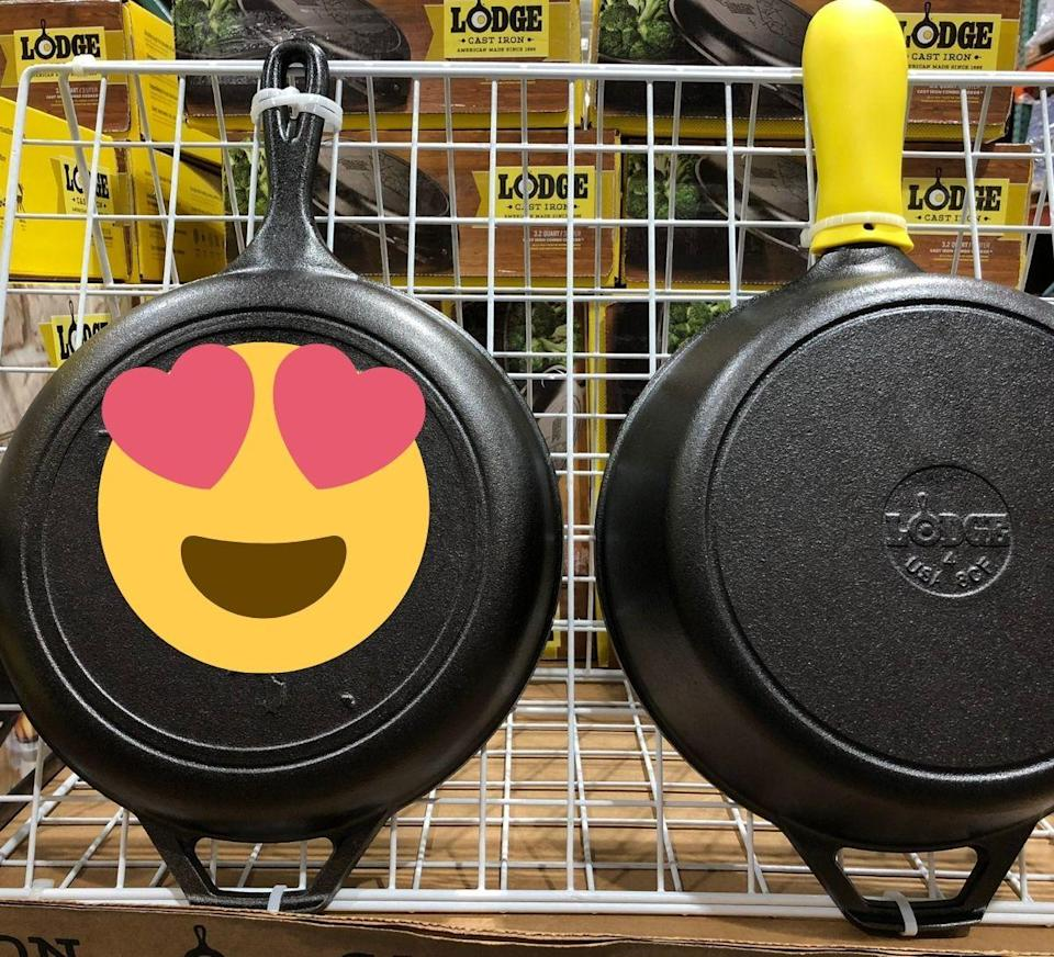 """<p>A social media user recently shared on Twitter that she found """"cast iron pans"""" featuring Taiwan's map for sale at Costco in Taiwan, causing quite a stir among other social media users. (Screenshot from @trickytaipei<br /> /Twitter)</p>"""