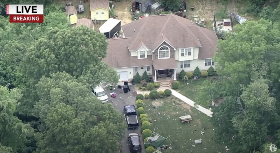 A house in Fairfield New Jersey is seen after a mass shooting.