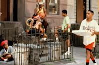 """<p>Written, directed by, and starring Spike Lee, <em>Do the Right Thing</em> captures the goings-on of the Bed-Stuy neighborhood of Brooklyn. The movie also marked the feature film debuts of Rosie Perez and Martin Lawrence. </p> <p><em>Available to rent on</em> <a href=""""https://www.amazon.com/Do-Right-Thing-Ossie-Davis/dp/B000I9VOGW"""" rel=""""nofollow noopener"""" target=""""_blank"""" data-ylk=""""slk:Amazon Prime Video"""" class=""""link rapid-noclick-resp""""><em>Amazon Prime Video</em></a><em>.</em></p>"""